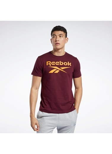 Reebok Graphıc Serıes  Stacked Tışört Bordo